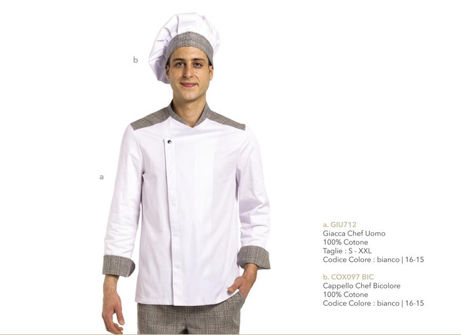 Abbigliamento cuoco professionale per Aiuto Cuoco o Pizzaiolo