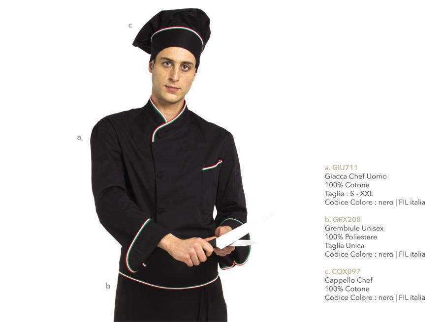 Abbigliamento professionale per cuoco e chef mevi - Normativa abbigliamento cucina ...
