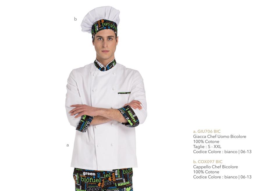 Abbigliamento da chef per hotel, ristoranti, scuole alberghiere, pizzerie