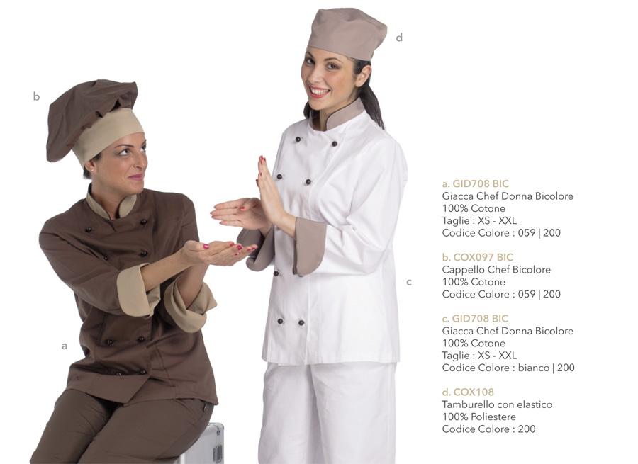 Divise da Lavoro per cuochi, pasticcerie, gelaterie, cioccolaterie, caffetterie, bar