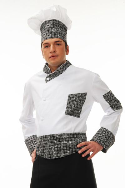 Divisa da lavoro  da cucina per cuochi, Gastronomie, pizzerie, ristoranti, scuole alberghiere.