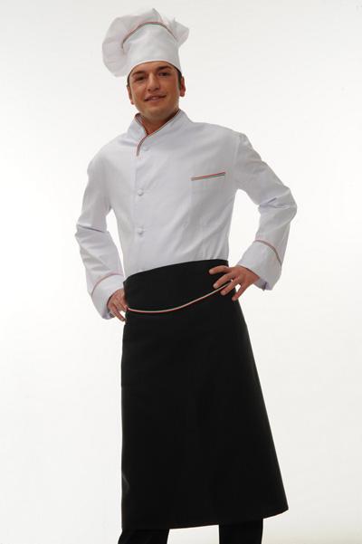 Abbigliamento da lavoro per cuochi, aiuto cuochi, personale di cucina, macellai,