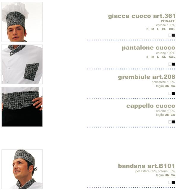 Abbigliamento da lavoro Mevi per cucina, adatto sia per hotel, alberghi e ristoranti
