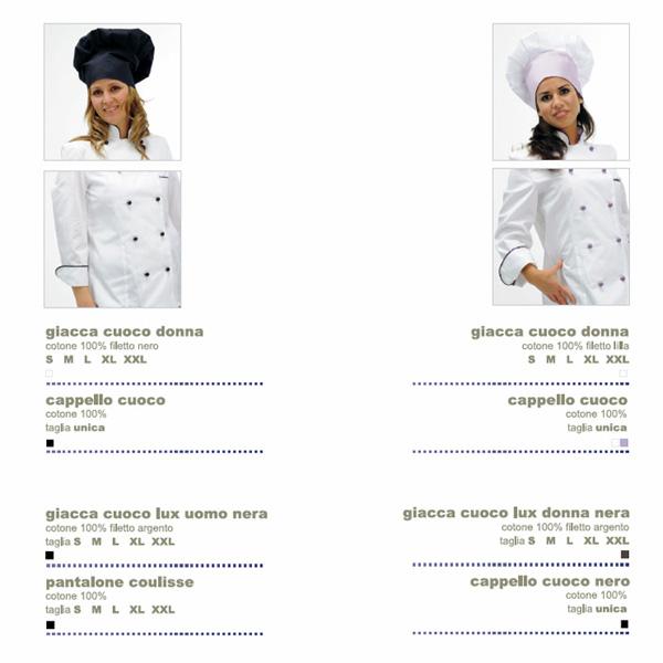 Abbigliamento da lavoro per Cuoco e Chef