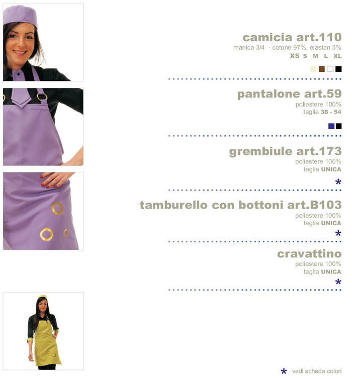 Abbigliamento professionale Grembiule e camicia