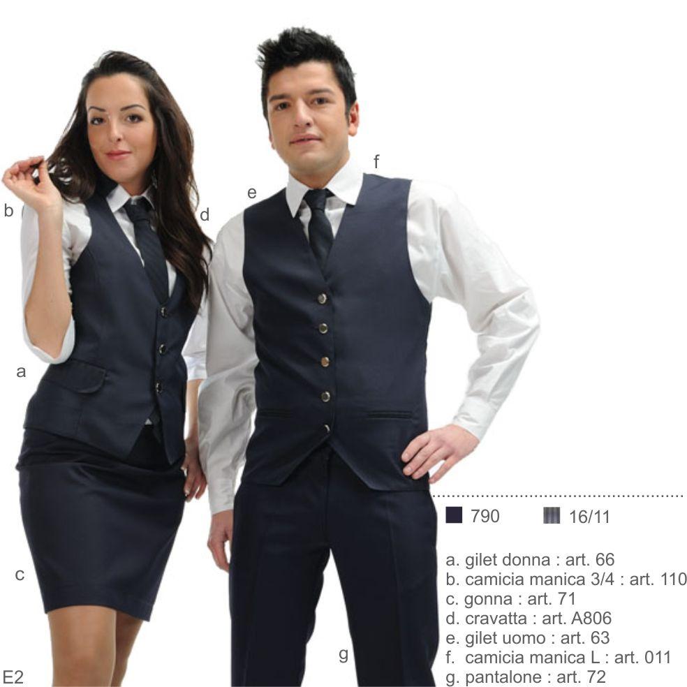 Abbigliamento professionale per albergo, ristorante, bar, caffetteria, hotel, reception