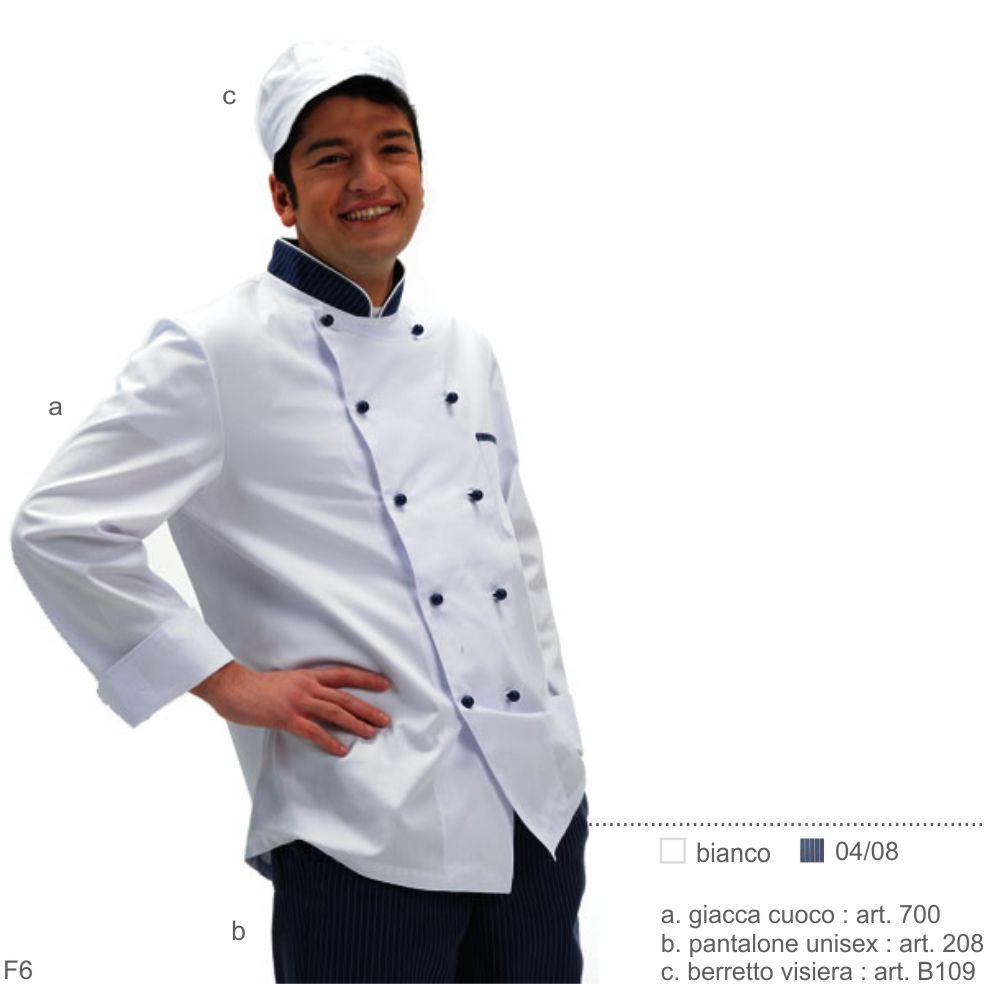 Divisa Giacca pantaloni cappello cuoco manica corta uomo donna cucina lavoro