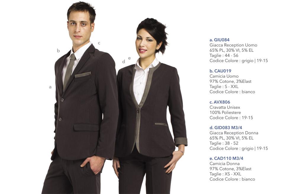 Abbigliamento Professionale per alberghi, hotel, reception, villaggi turistici, maître