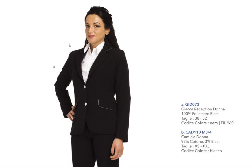Abbigliamento Professionale per hostess, addetti al ricevimento, reception, hotel, alberghi
