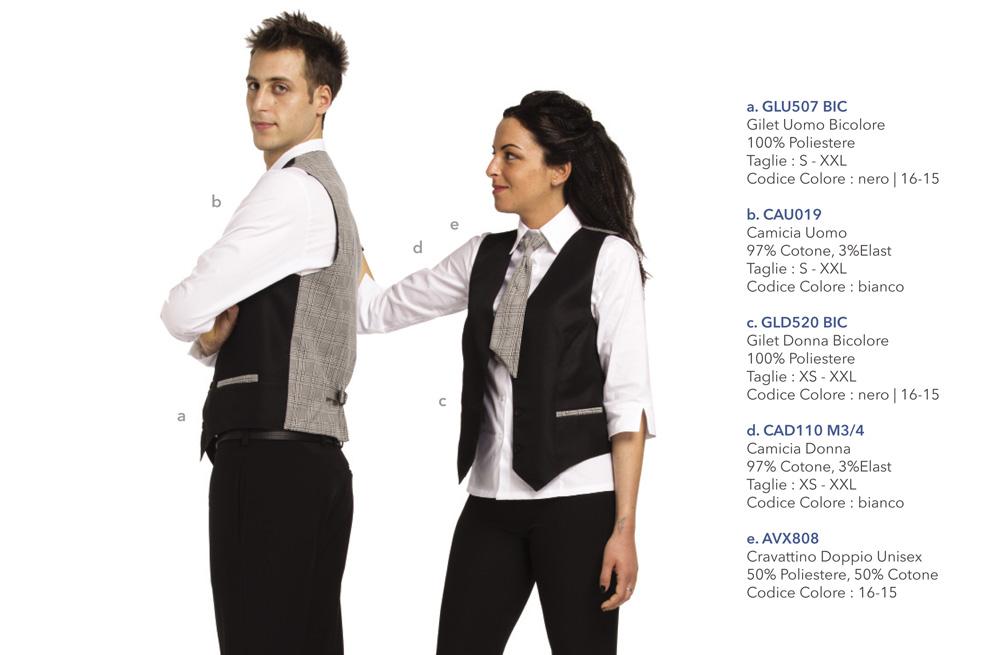Abbigliamento Professionale per catering, cioccolaterie, bar, pasticcerie, caffetterie, alberghi