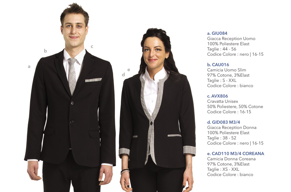 Abbigliamento Professionale per hotel, reception, hostess, tour operator, uffici