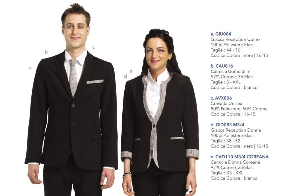 Abbigliamento Professionale per hotel, reception, hostess, tour operator, uffici
