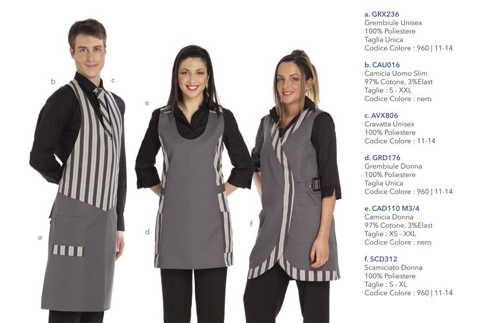 Abbigliamento Professionale per ristorante, albergo, bar, hotel, caffetteria, pasticceria