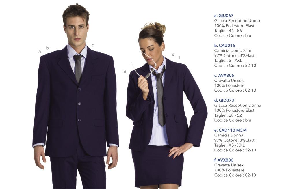 Abbigliamento Professionale per alberghi, hotel, reception, villaggi turistici