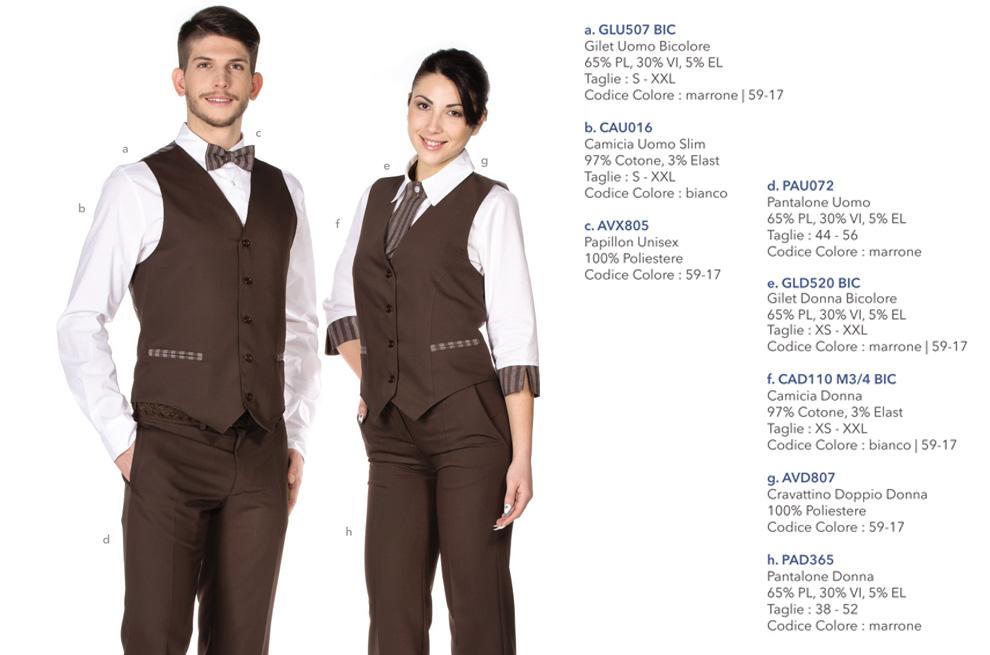 Abbigliamento Professionale per hotel, ristoranti, reception, alberghi
