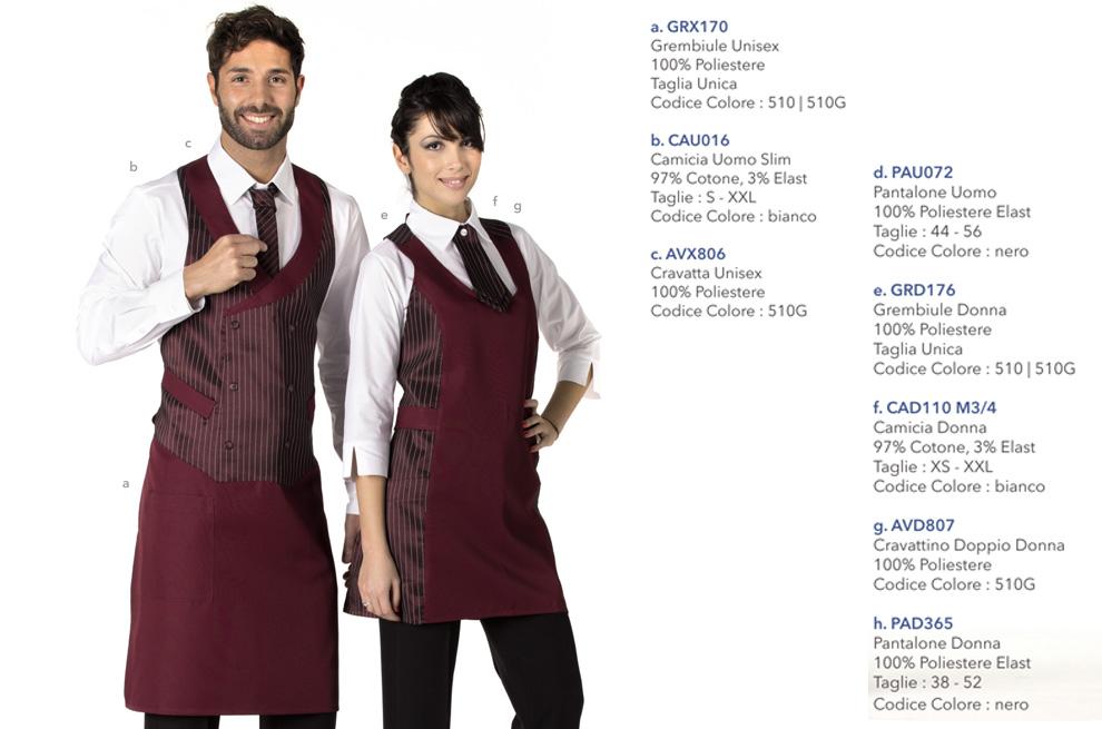 Abbigliamento Professionale per hotel ristorante, albergo, bar, pasticceria