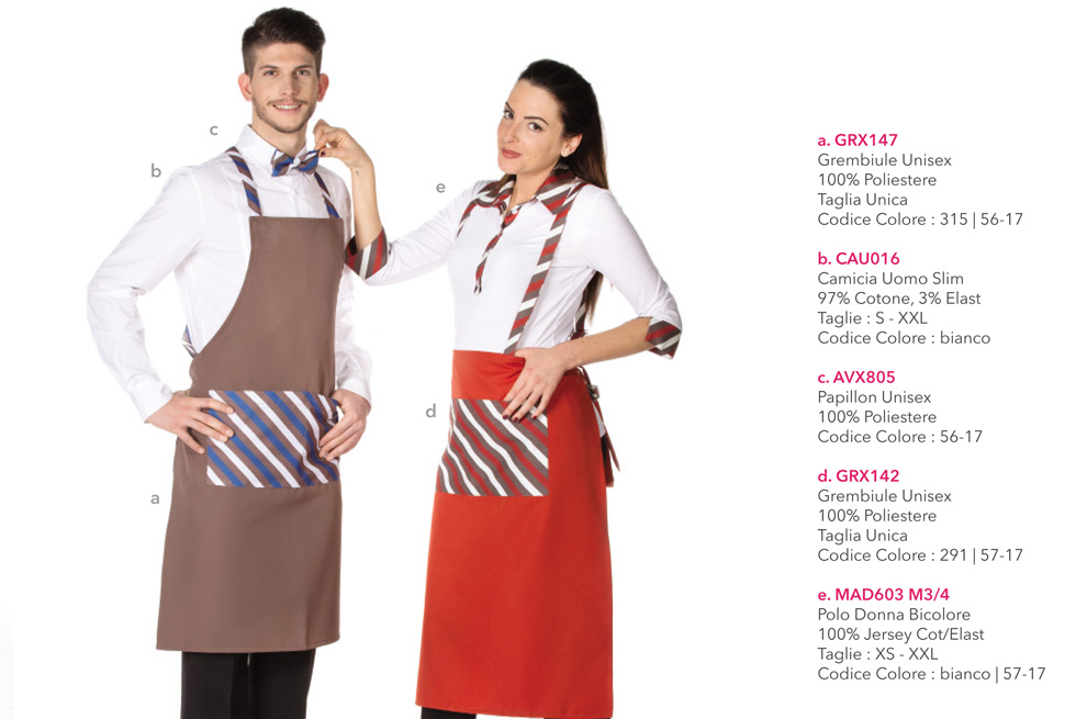 Abbigliamento Professionale per centri estetici, hotel, ristoranti, bar, agriturismi