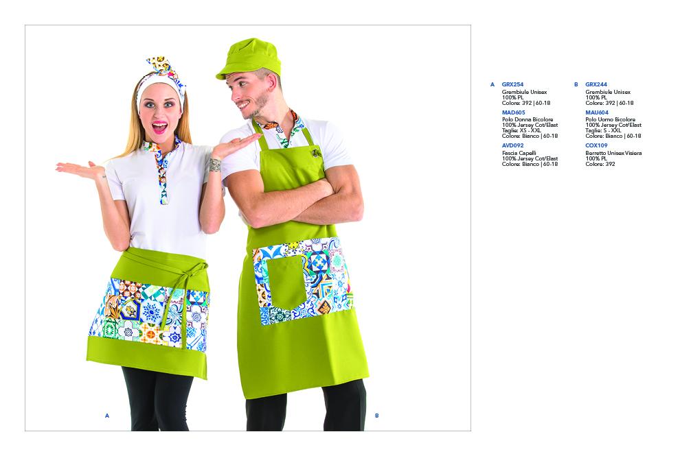 Abbigliamento Professionale per Gelaterie, Pasticcerie, Bar, Frutterie, Yougurterie, Piadinerie, Pizza al taglio