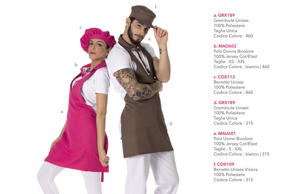 Abbigliamento professionale per Gelaterie, Bar, Pasticcerie