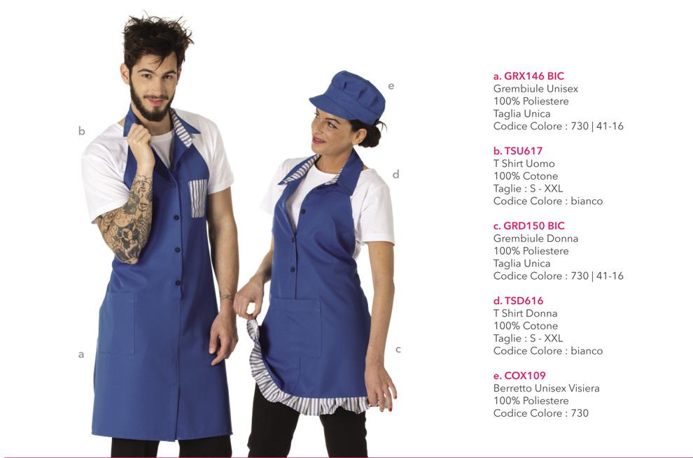 Divise da Lavoro per gelateria, frutteria, yogurteria, pasticceria, bar, caffetteria