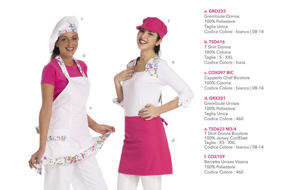 Abbigliamento professionale per Gelateria, Pasticceria, Cake Disign, Forno, backery e Gastronomia