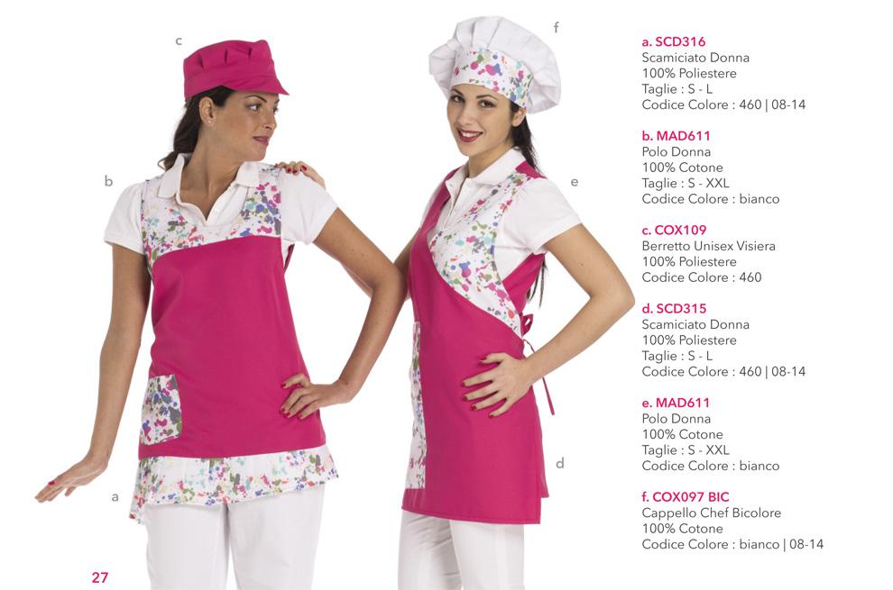 Abbigliamento professionale per Gastronomie, Panifici, Cake disign, Bar, Gelaterie e Pasticcerie
