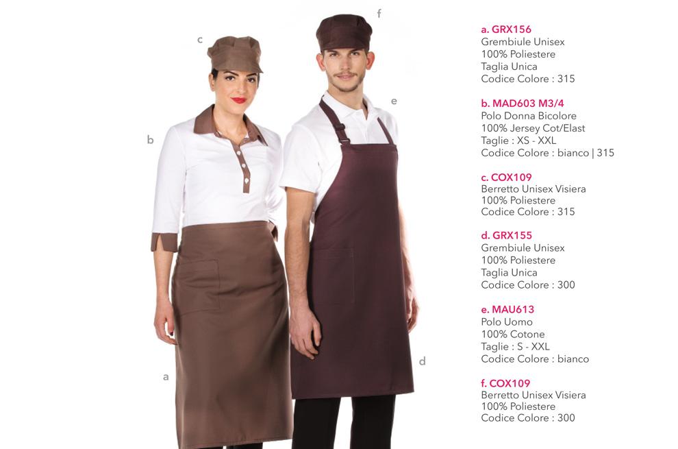 Divisa da Lavoro per pasticceria, cioccolateria, albergo, caffetteria