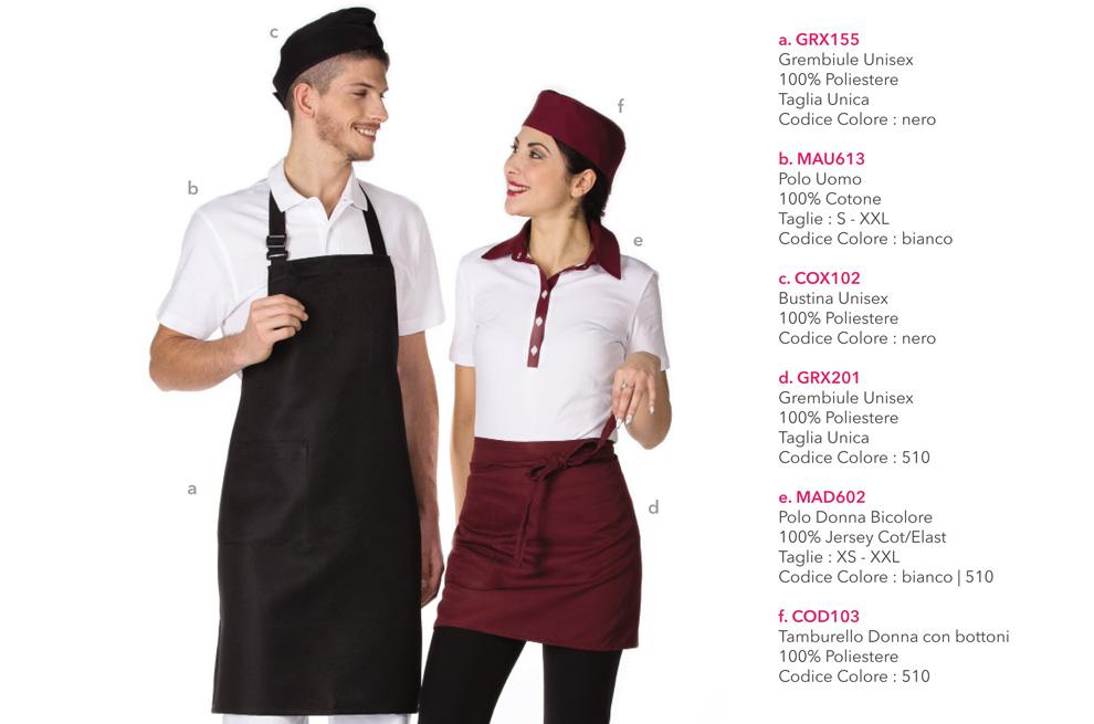 Divisa da Lavoro per panificio, supermercato, gelateria, yogurteria, bar