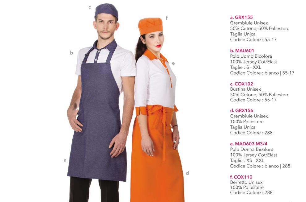 Abbigliamento Professionale per gastronomie, gelaterie, pasticcerie, bar, caffetterie