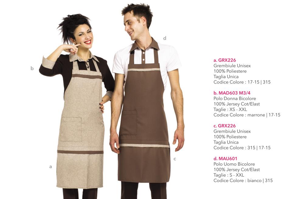 Abbigliamento professionale per la panetterie, il forno, la gelaterie e la pasticceria