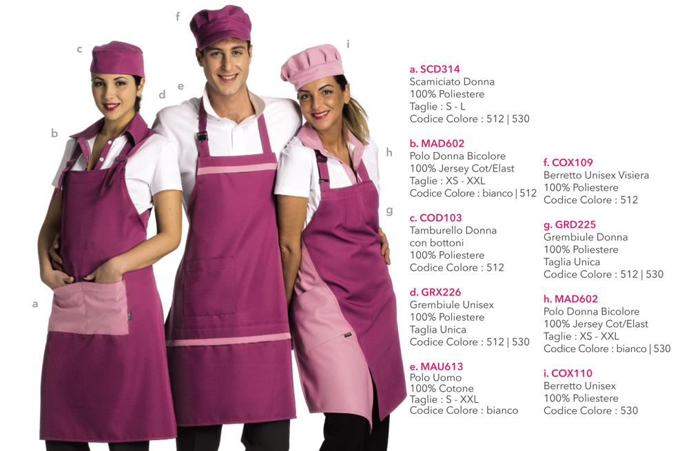 Divise da Lavoro per enoteche, gastronomie, panifici, pizzerie, alimentari