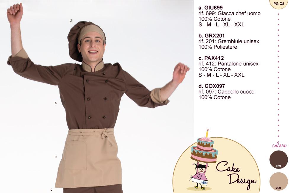 Abbigliamento professionale e da lavoro per cake design