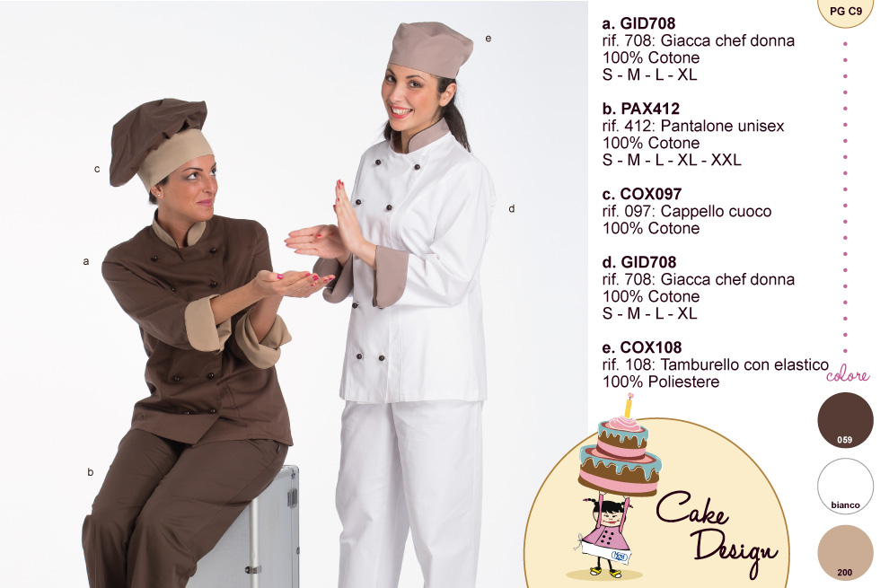 Cake Design Mevi: Giacche e divise per Pasticceri All'avanguardia