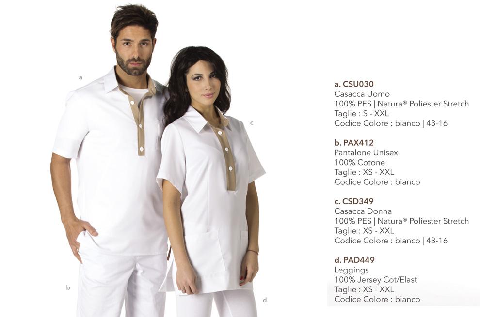 Linea Estetica di abbigliamento da lavoro e camici Mevi