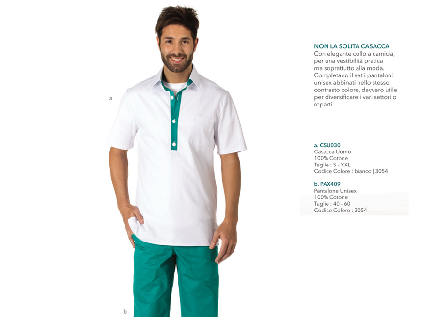 Linea sanitaria, medicale abbigliamento professionale Mevi