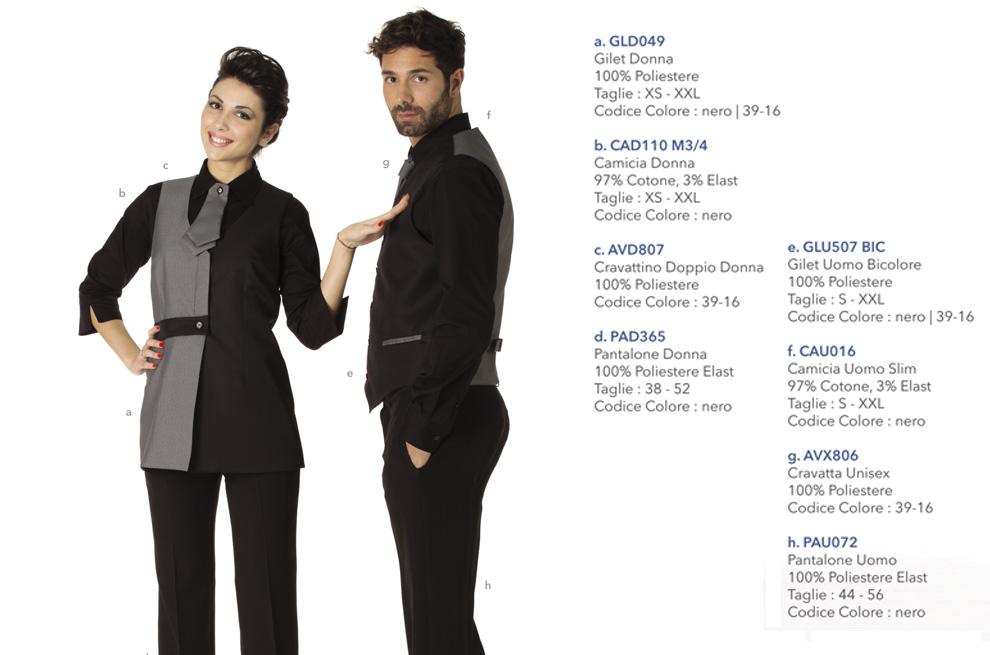 Abbigliamento da lavoro, camici da lavoro per hotel, ristoranti, alberghi