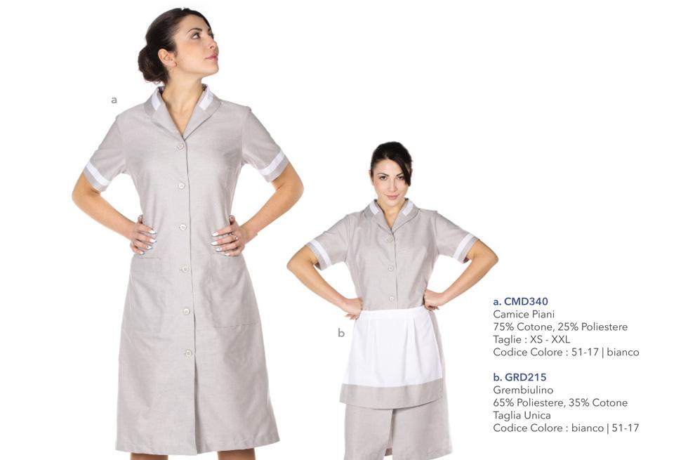 Camici da lavoro per settore ristorazione, alberghiero, abbigliamento professionale