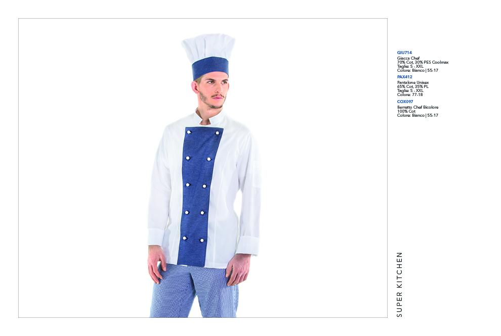 Abbigliamento professionale per Cucina, Scuole Alberghiere, Chef, Rosticcerie, Cuoco, Pizzerie, Gastronomie