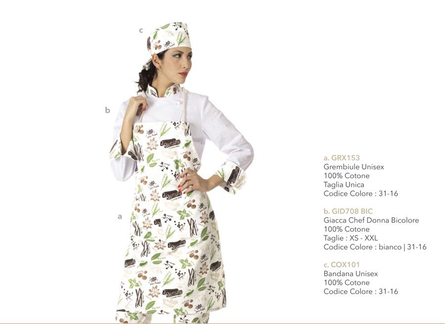 Giacca da chef per donna per cuoche, chef, hotel, ristoranti, scuole alberghiere, macellerie, pizzerie