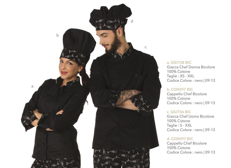 Divisa da cucina per cuochi, chef, hotel, osterie, ristoranti, pizzerie