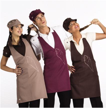 Abbigliamento per gelateria