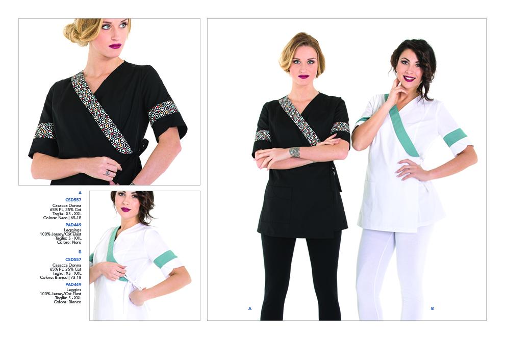 Abbigliamento Professionale per Beauty Farm, Spa's, Centri Benessere, Estetiste, Parrucchieri, Hotel, Terme