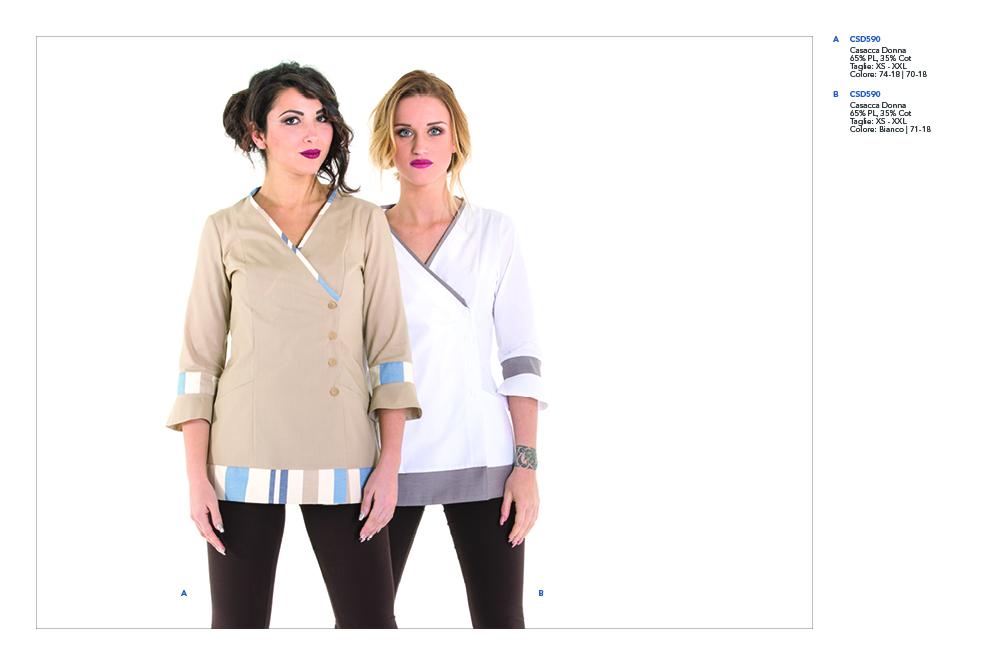 Abbigliamento professionale Mevi per Centri Estetici, SPA, Centri termali, Centri Benessere, Centri Fisioterapici, Ambulatori