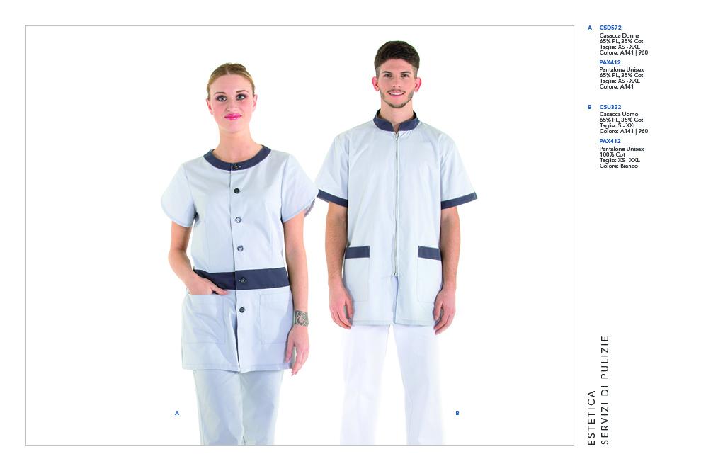 Abbigliamento da lavoro per Lavanderie, Imprese Pulizie, Medicale, Sanitario, Cliniche Private, Ambulatori, Ospedali, Studi Medici