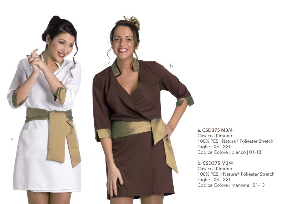 Abbigliamento Professionale per spa, centri benessere, pasticcerie, alberghi, centri estetici