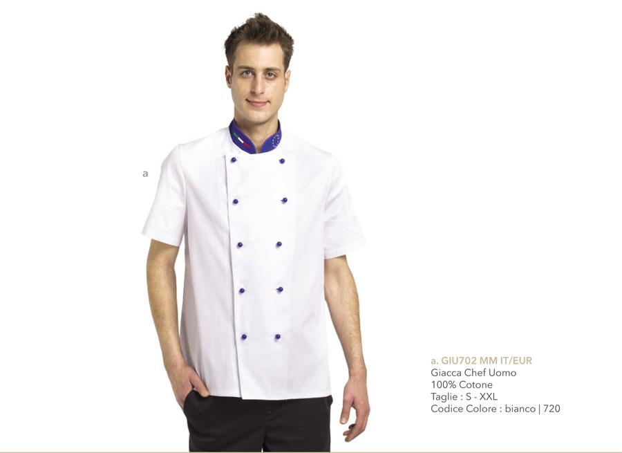 Nuova Giacca da Cuoco Mevi, Abbigliamento professionale da lavoro