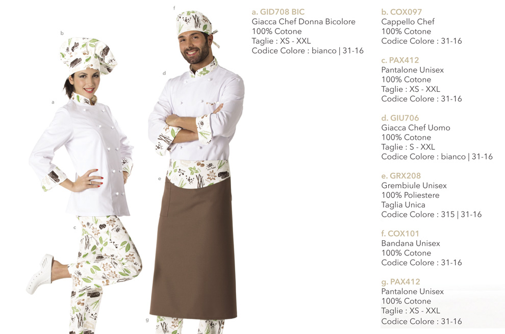 Giacca chef bicolore per lui e per lei, utile in cucina, hotel, scuole alberghiere, macellerie, pizzerie, trattorie, ristoranti