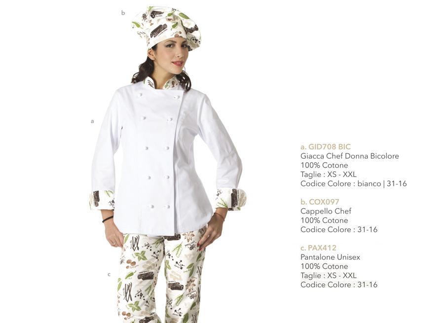 Divisa da cuoco, giacca per pasticceria, gelateria, chef, ristorante, gastronomia