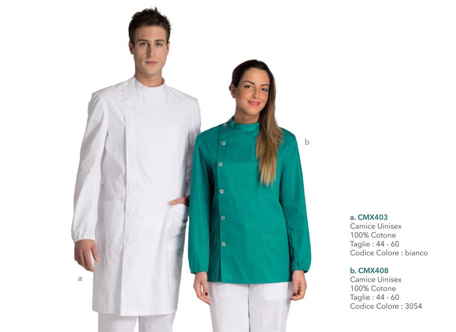Abbigliamento professionale per infermieri, medici, dentisti, operatori sanitari, fisioterapisti, assistenti