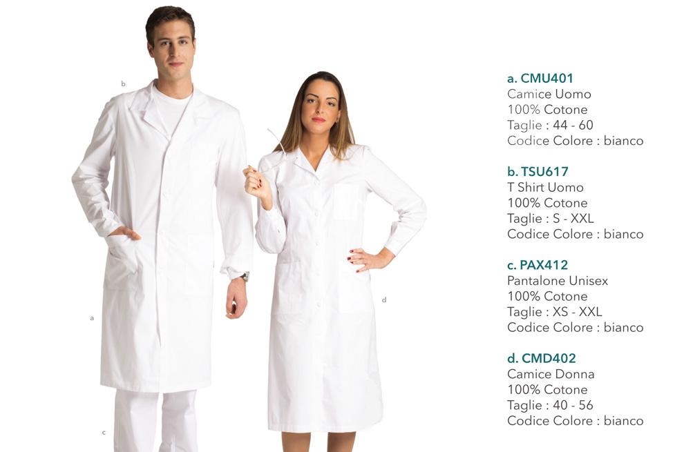 Abiti da lavoro per fisioterapista, medico, dentista, operatore sanitario, laboratorio medico